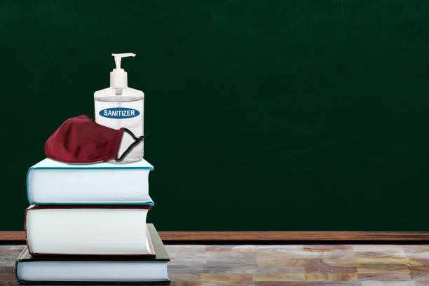 Back to School Education New Normal During Covid-19 Pandemic stock photo