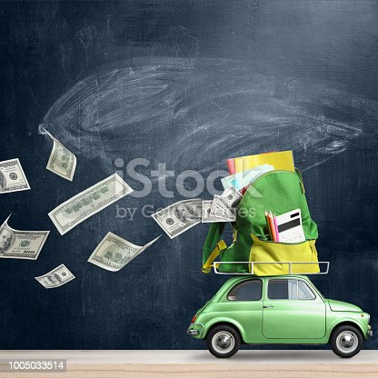 istock Back to school expenses car. 1005033514