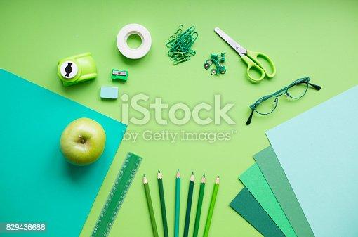 istock Back to school, greenery 829436686