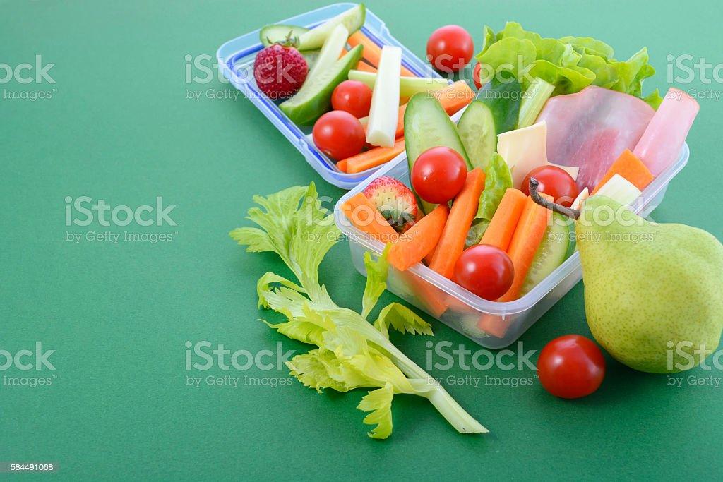 Back to school healthy lunch box. – Foto
