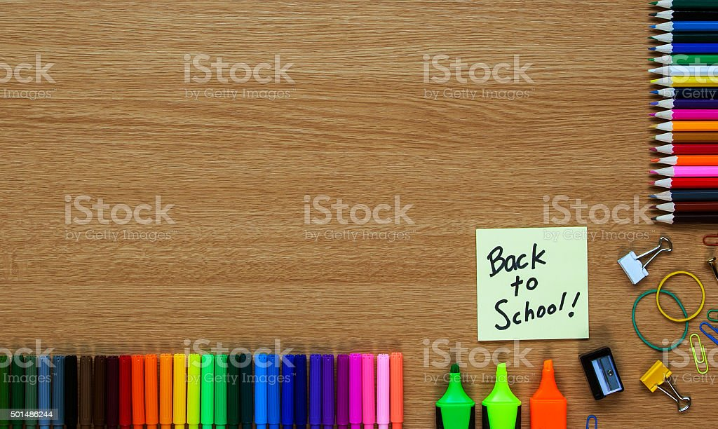 Back to School, holidays / vacation over, education background. stock photo