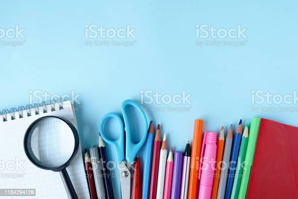 Back to school items for the school on a blue table with copy space picture id1154294126?b=1&k=6&m=1154294126&s=612x612&h=hj7inmpnvyeutkeprwkjhtdlkybkzeefzax0ol96fzc=
