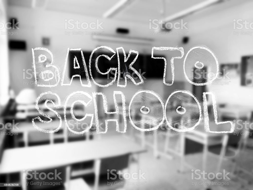 'Back to School' Lettering stock photo