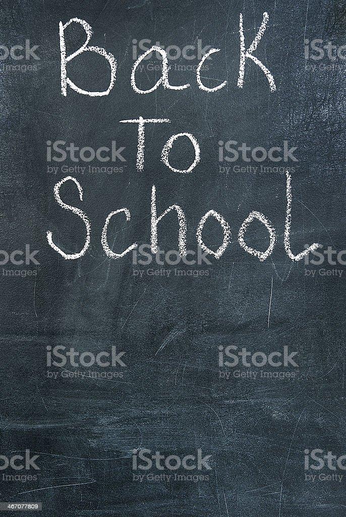 Back to school on chalkboard royalty-free stock photo