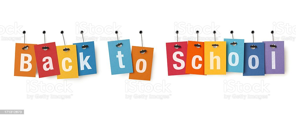 Back to School on price labels royalty-free stock photo