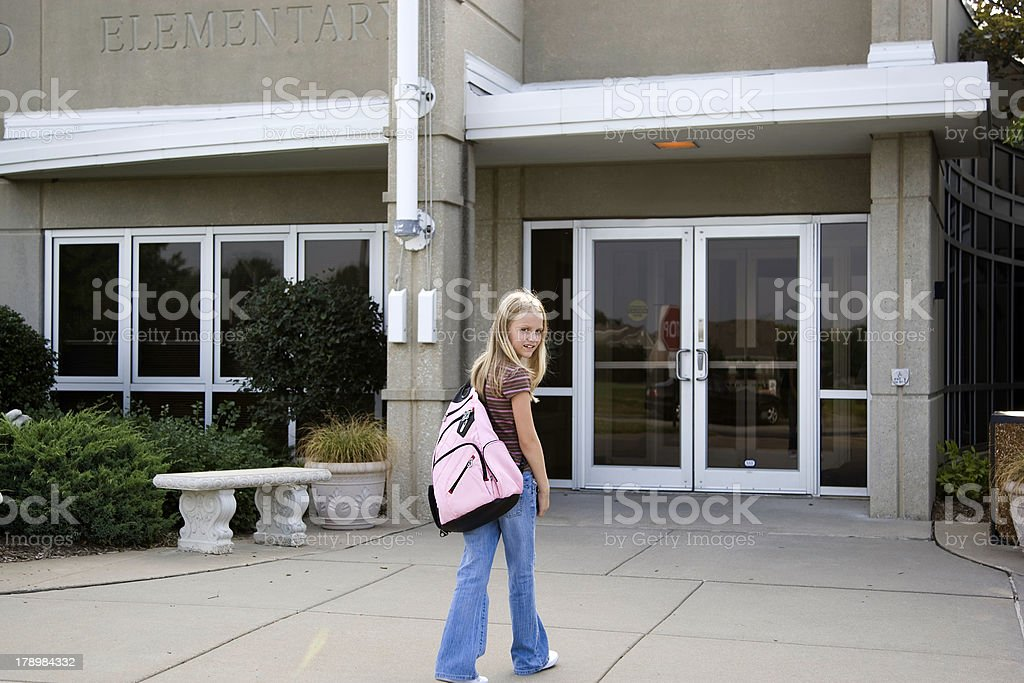 Back to School - Outside Building 3 stock photo