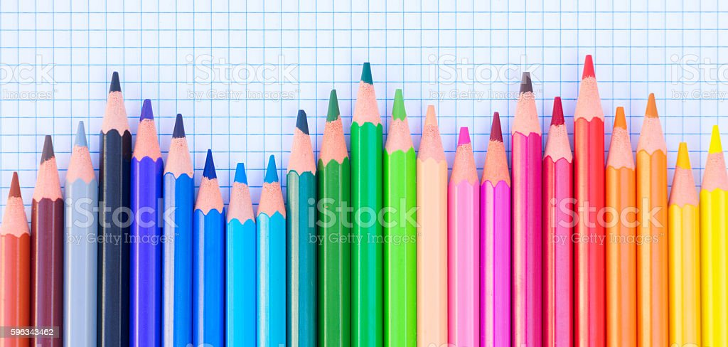 Back to school pencils royalty-free stock photo
