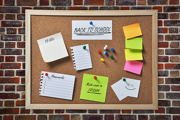 back to school - bulletin board stock pictures, royalty-free photos & images