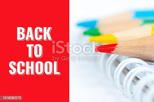 istock back to school, postcard with pencils 1018282272