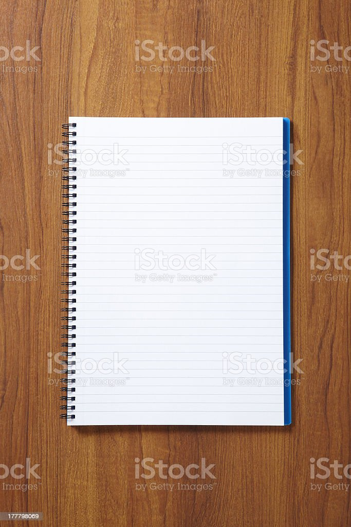 Back to School pupils note pad royalty-free stock photo