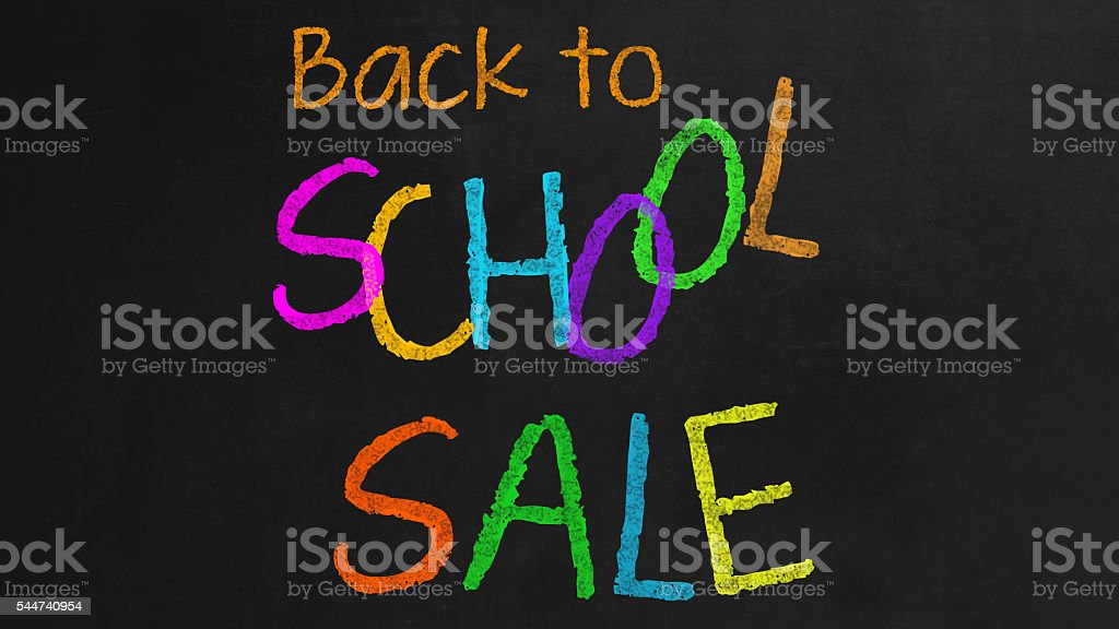 Back to School Sale stock photo
