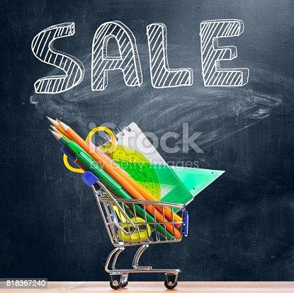 istock Back to school sale. 818367240