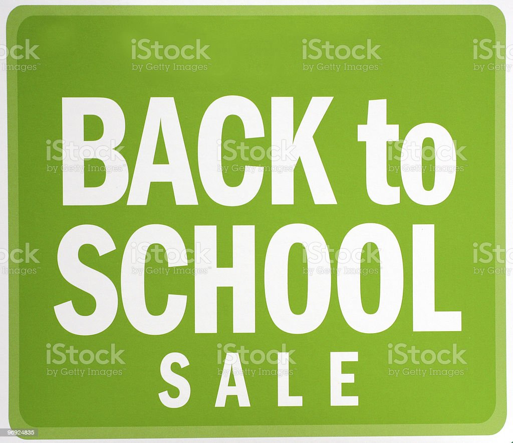 Back To School Sale Sign royalty-free stock photo