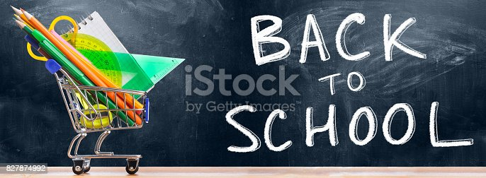 istock Back to school shopping. 827874992