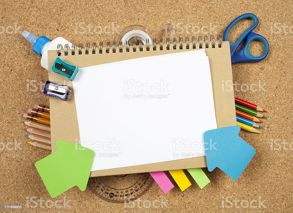 Back to school supplies background royalty-free stock photo