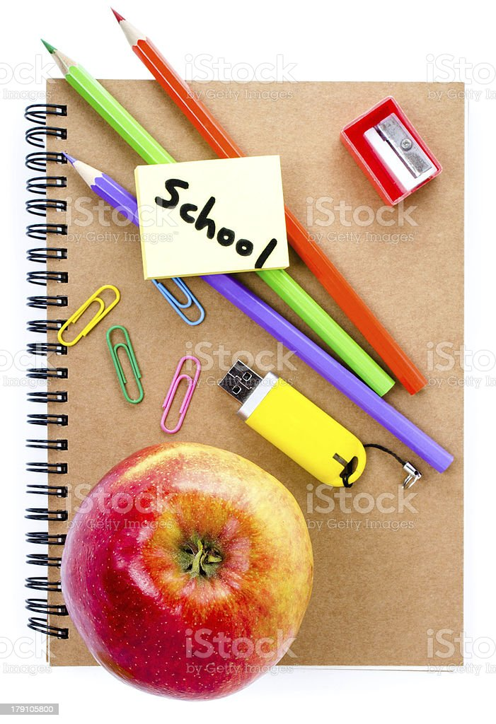 Back to school supplies Notebook royalty-free stock photo