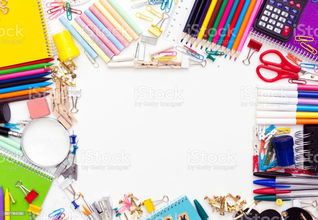 Back to school supplies stock photo