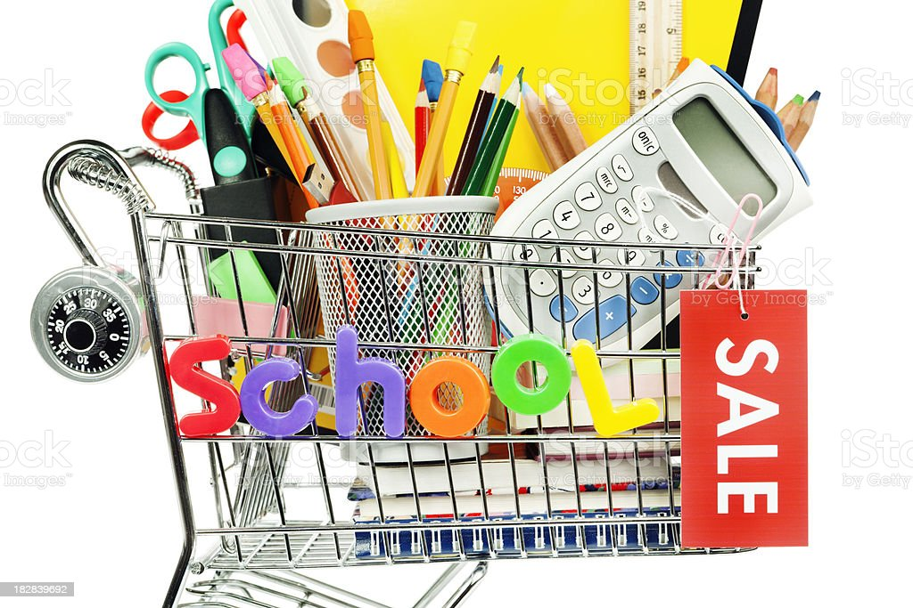 Back to School Supplies Sale Hz royalty-free stock photo