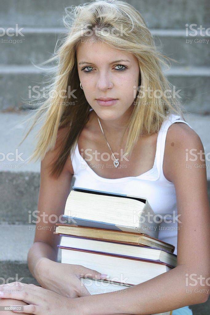 Back to school teen royalty-free stock photo