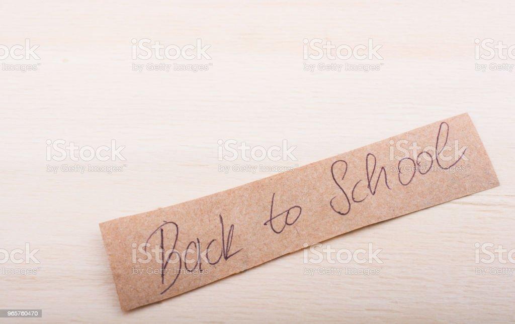 Terug naar school thema op onderwijs - Royalty-free Begin van het schooljaar Stockfoto