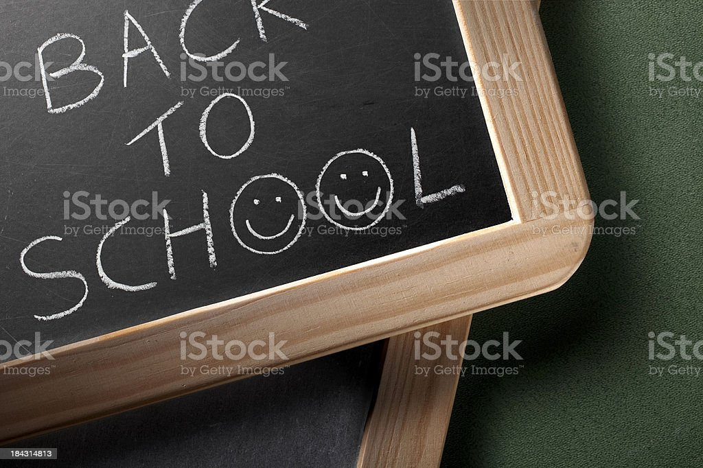 Back to school with icons smiley faces royalty-free stock photo