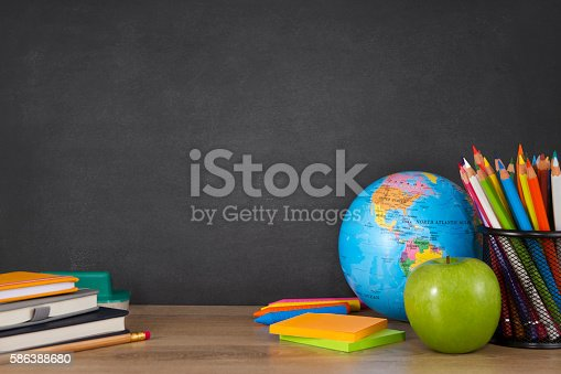 istock Back to School with School Supplies 586388680