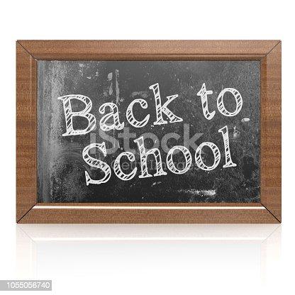 istock Back to school word on blackboard 1055056740