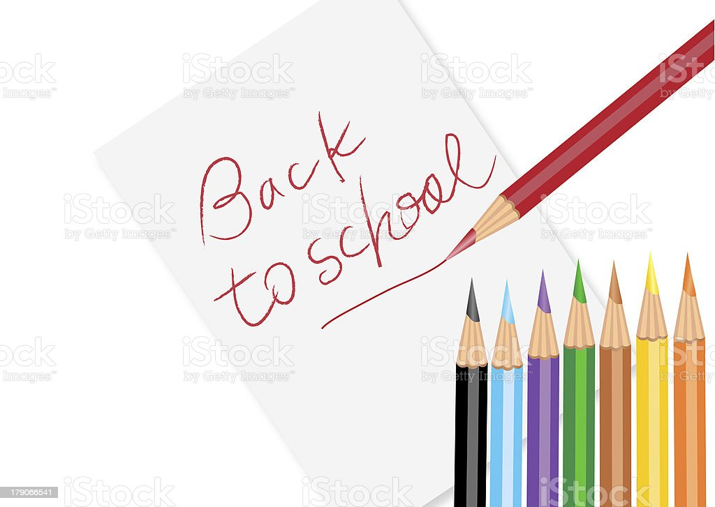 Back to shcool concept stock photo