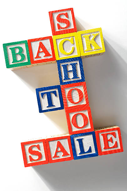 Back to shcool sale stock photo