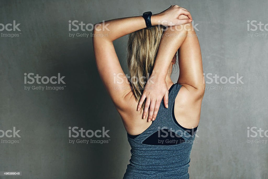 Back to the basics of stretching stock photo