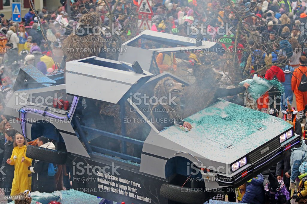 Back To The Future At The Fasnacht stock photo