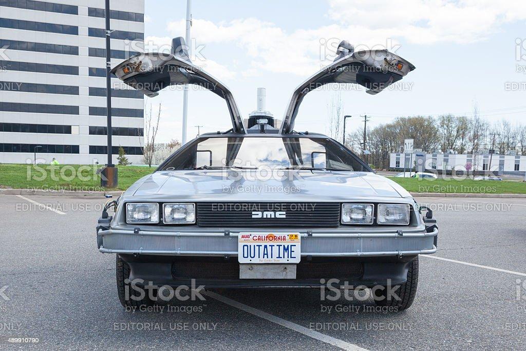 De volta para o futuro Car - foto de acervo