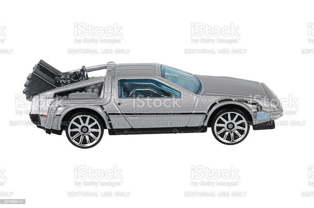 Back to the Future Delorean Hot Wheels Diecast Toy Car stock photo