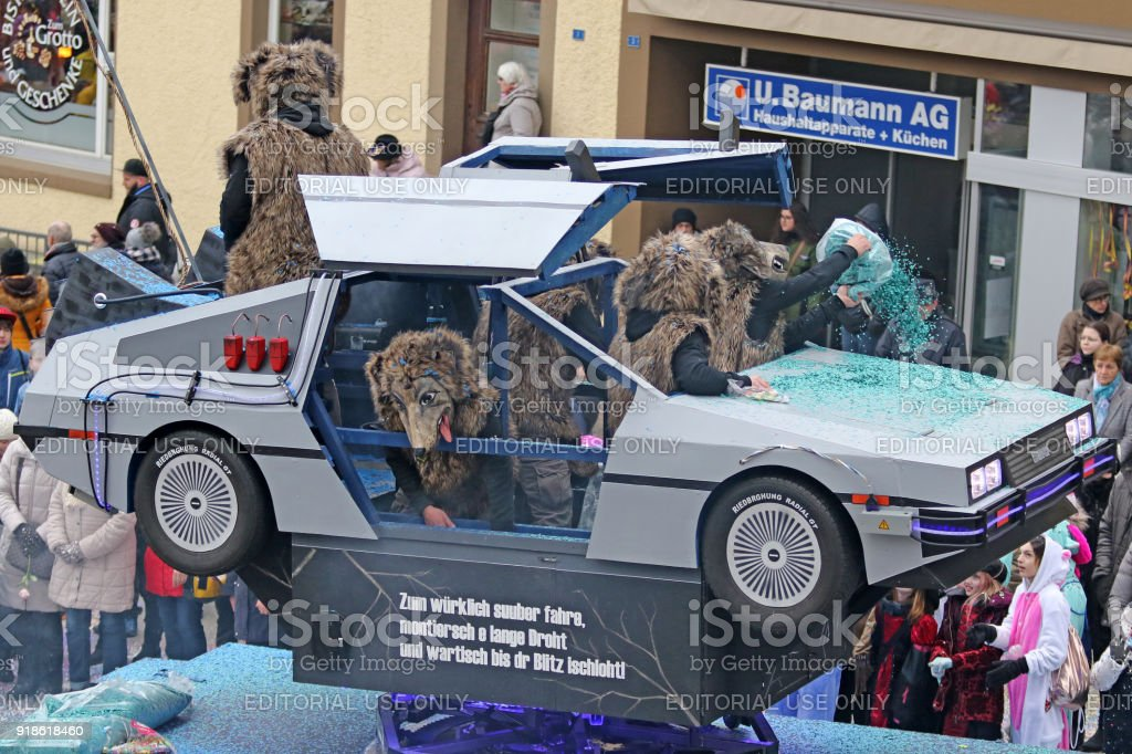 Back To The Future Fasnacht stock photo