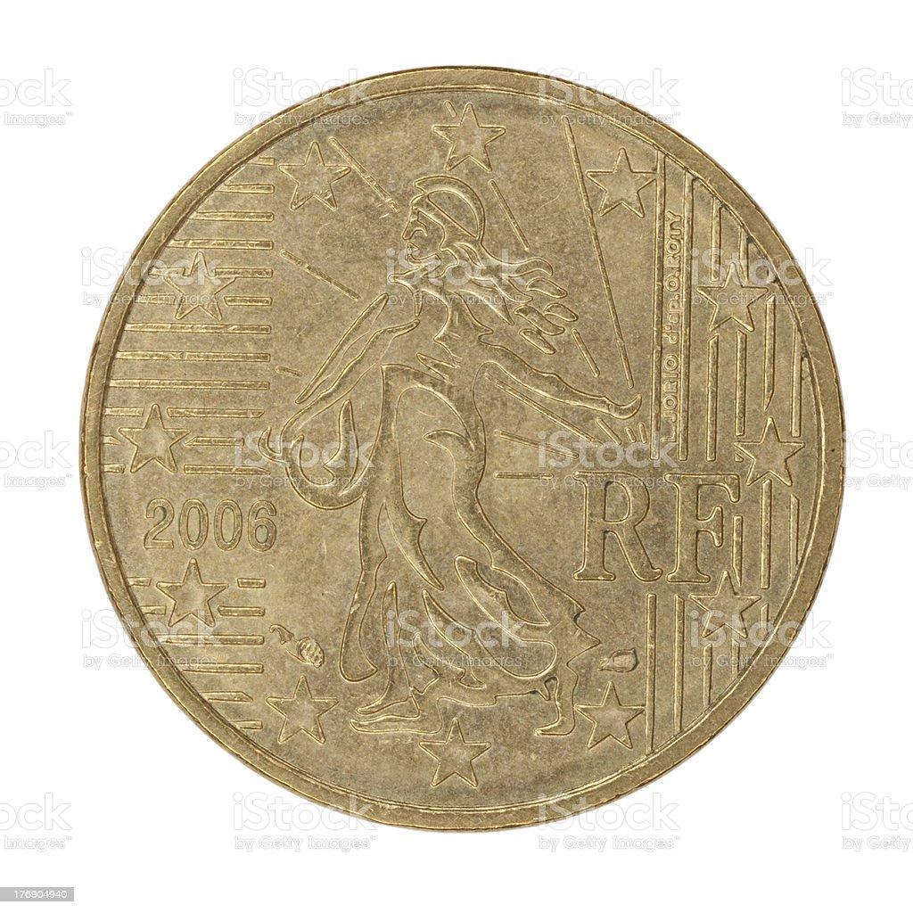 Back Twenty Eurocent Coin royalty-free stock photo