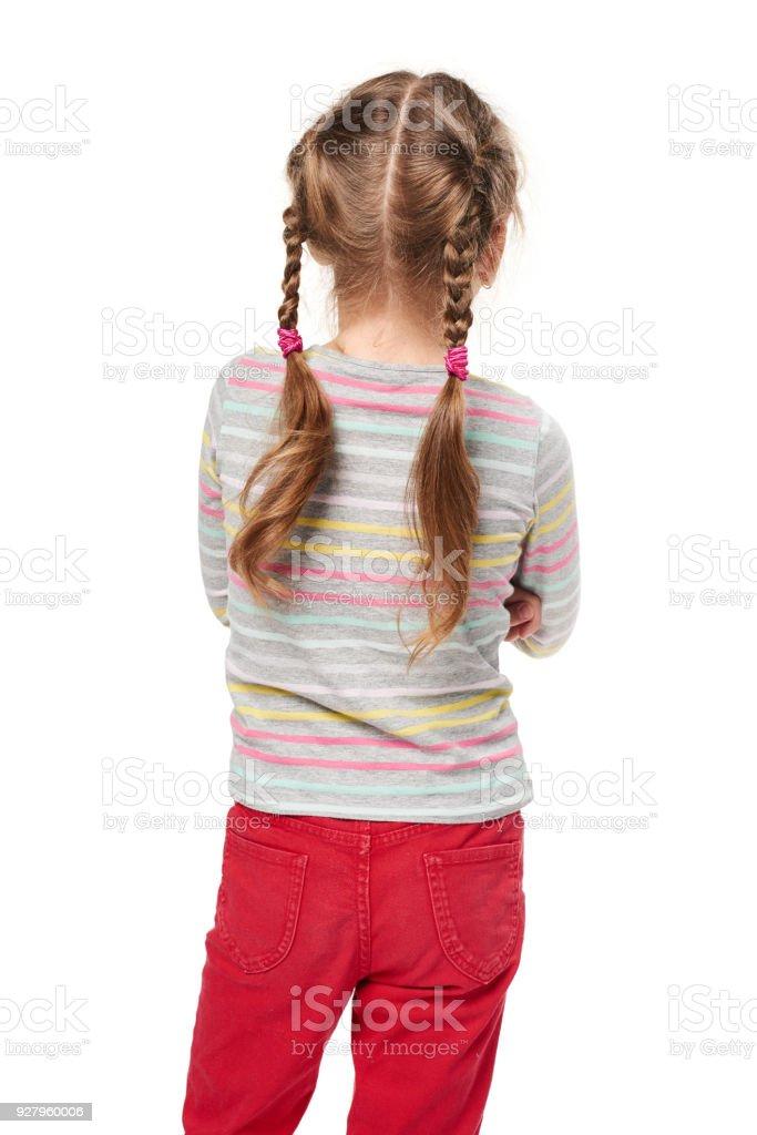 Rückansicht des ein Kind Mädchen stehen – Foto