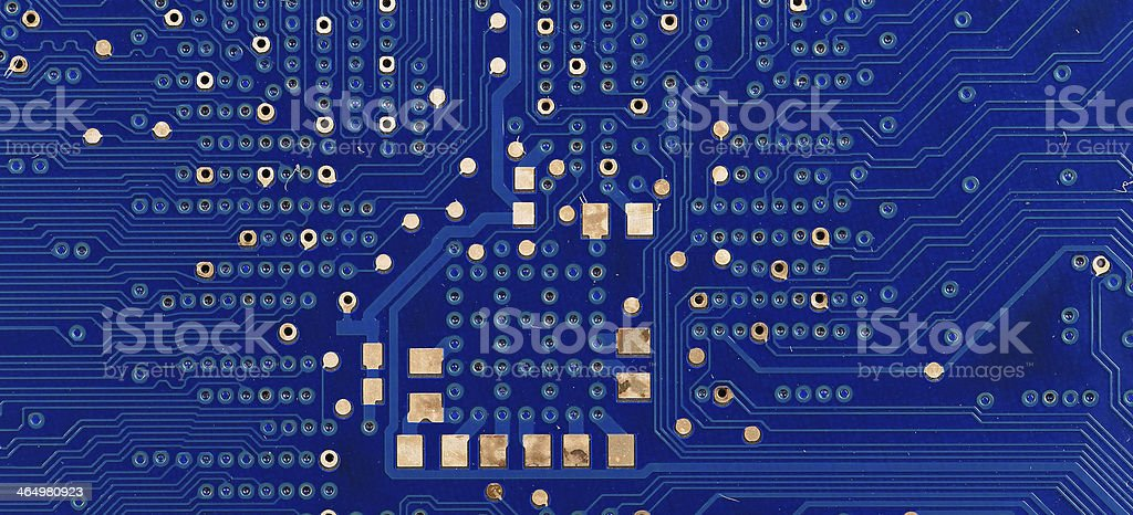Back view of a DDR memory module. stock photo