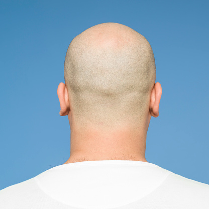 heads bald with Men shaved
