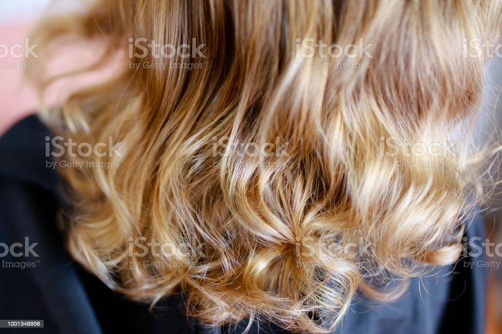 Rückansicht Des Blonden Gesunden Kleinen Mädchen Die Haare