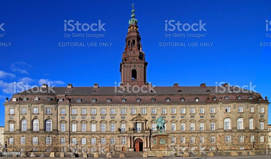 back view of Christianborg palace in Copenhagen, Denmark stock photo