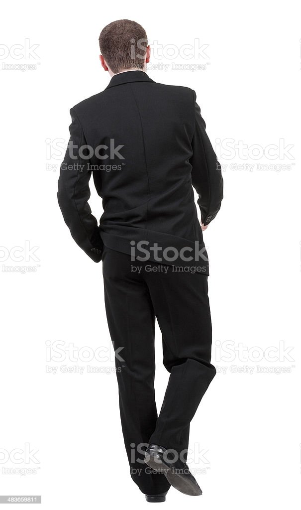 back view of going business man. royalty-free stock photo