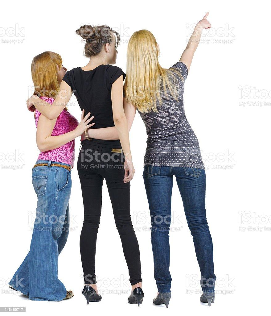 Frauen zeigen