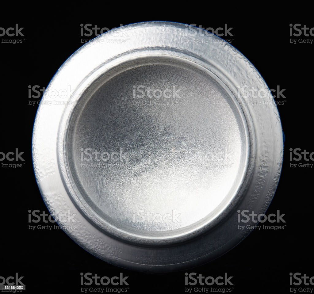 Back view of metal can stock photo