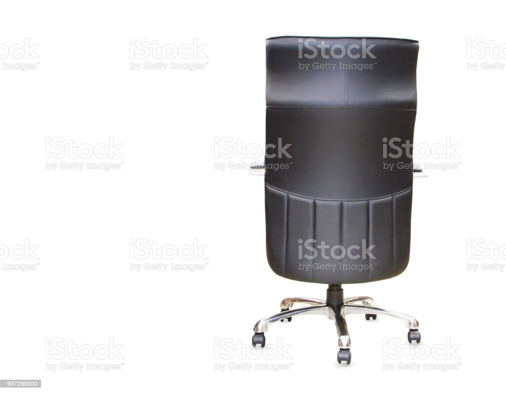 Astonishing Back View Of Modern Office Chair From Black Leather Isolated Stock Photo Download Image Now Interior Design Ideas Gentotryabchikinfo