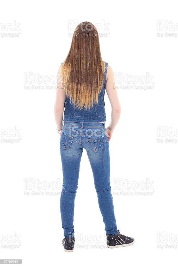 девушки в одежде фото сзади