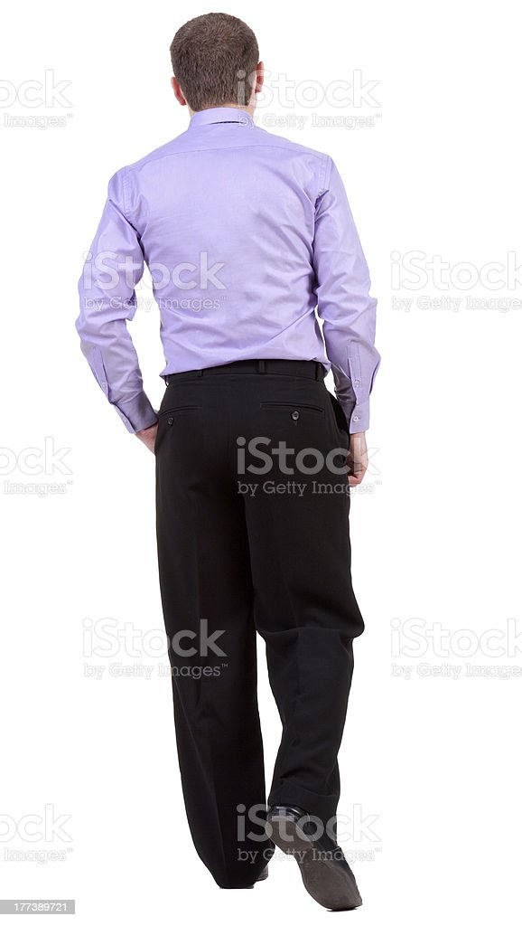 back view of walking  business man.  going businessman royalty-free stock photo