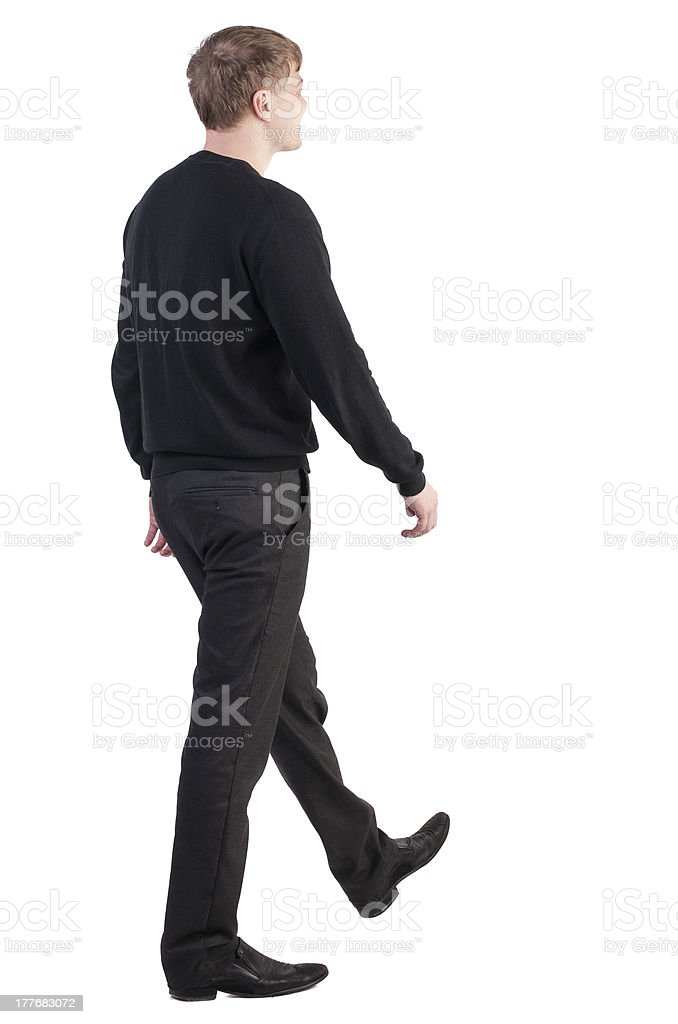 back view of walking  business man royalty-free stock photo