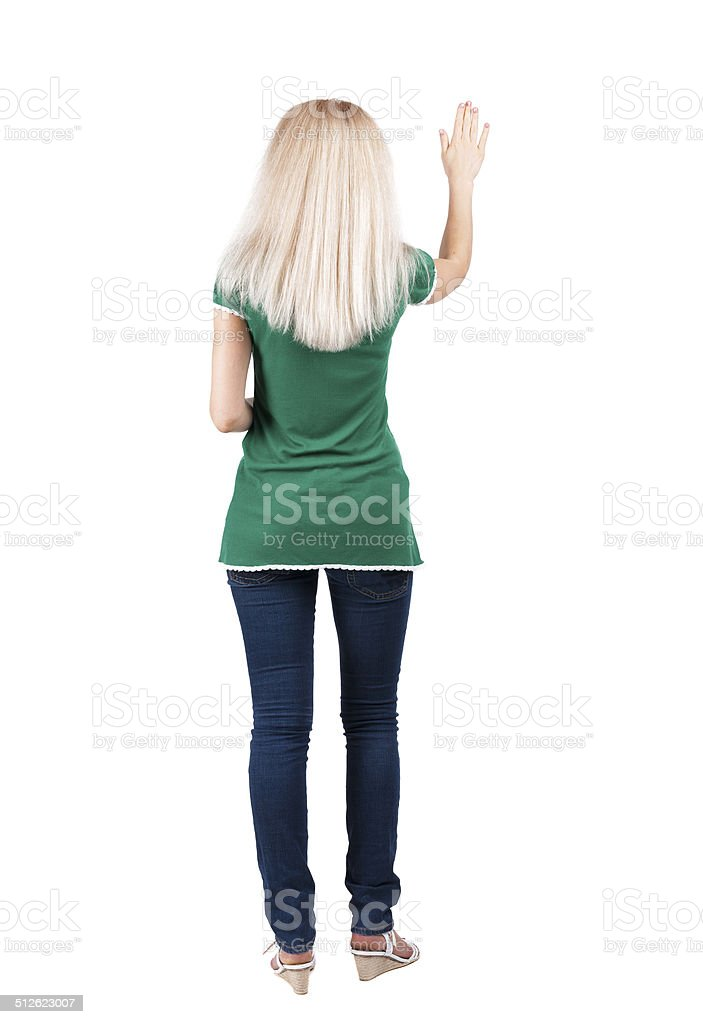 back view of woman. stock photo