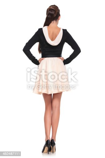 istock back view picture o sexy woman in  fashion dress 452487111