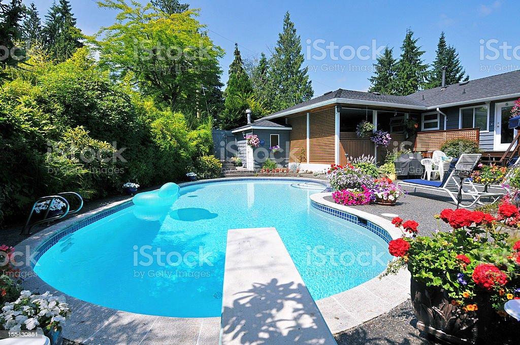 Back Yard Pool stock photo